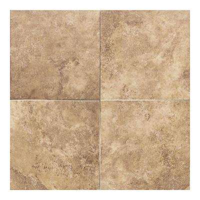 Salerno Marrone Chiaro 12 in. x 12 in. Glazed Ceramic Floor and Wall Tile (11 sq. ft. / case)