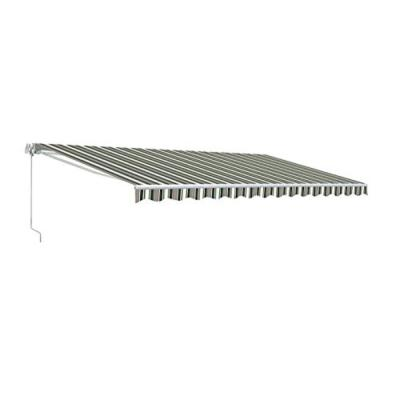 20 ft. Motorized Retractable Awning (120 in. Projection) in Multi-Stripe Green