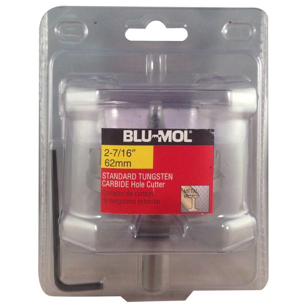 BLU-MOL 2-7/16 inch Standard Tungsten Carbide Hole Cutter by BLU-MOL