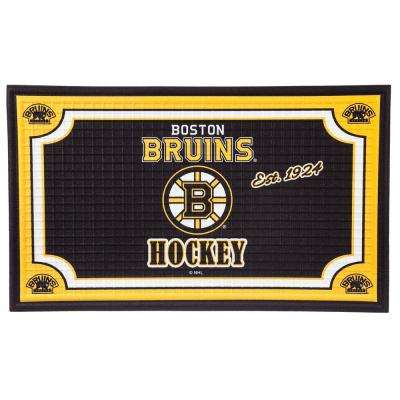 Boston Bruins 18 in. x 30 in. Embossed Welcome Mat