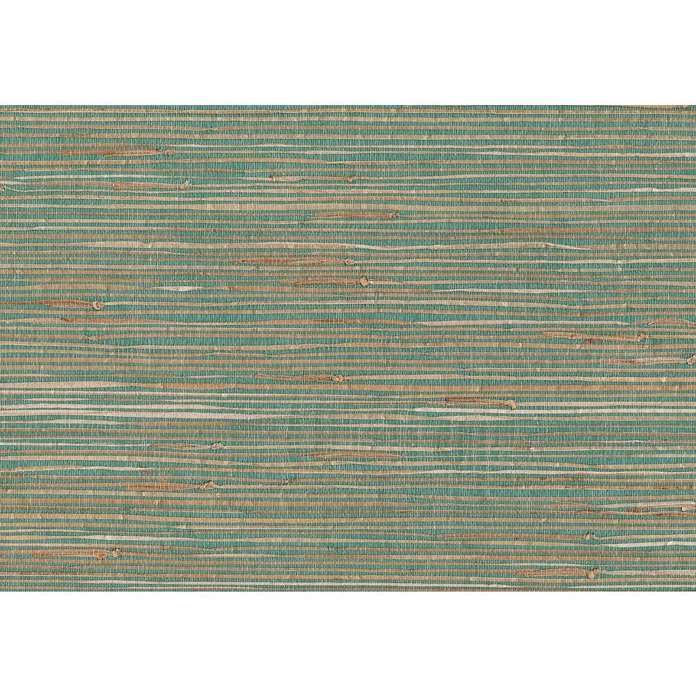 72 sq. ft. Keiko Aqua Grasscloth Wallpaper