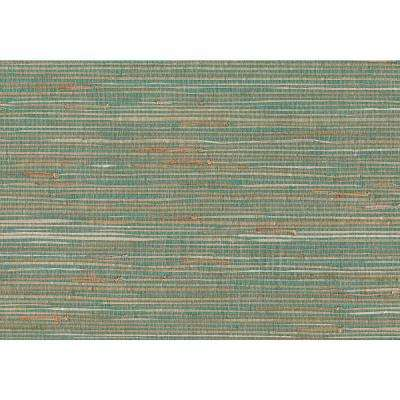 8 in. x 10 in. Keiko Aqua Grasscloth Wallpaper Sample