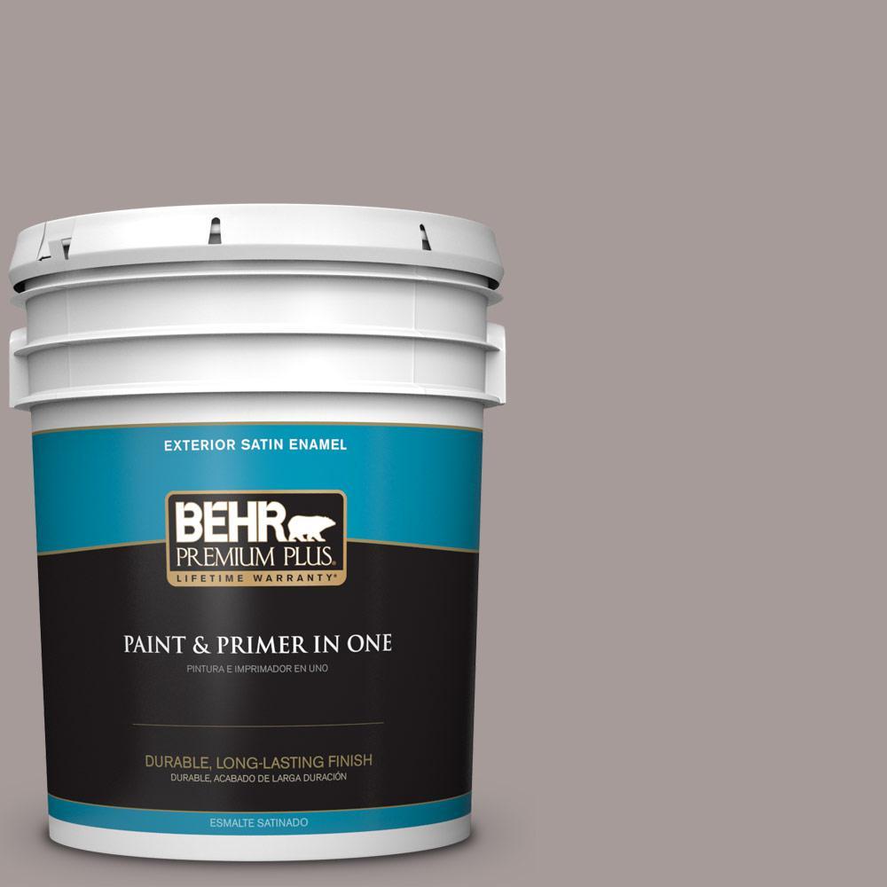 5 gal. #PPU17-12 Smoked Mauve Satin Enamel Exterior Paint