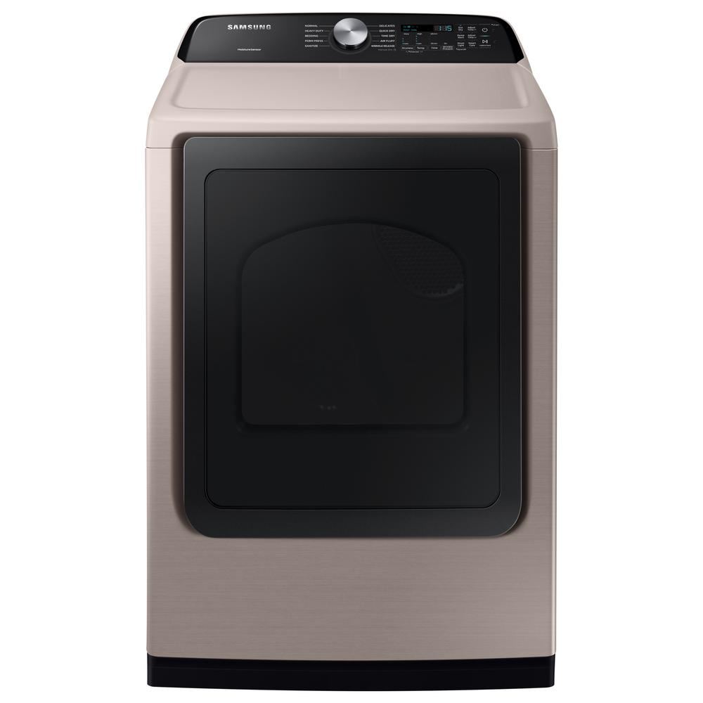 7.4 cu. ft. 240-Volt Champagne Electric Dryer with Sensor Dry
