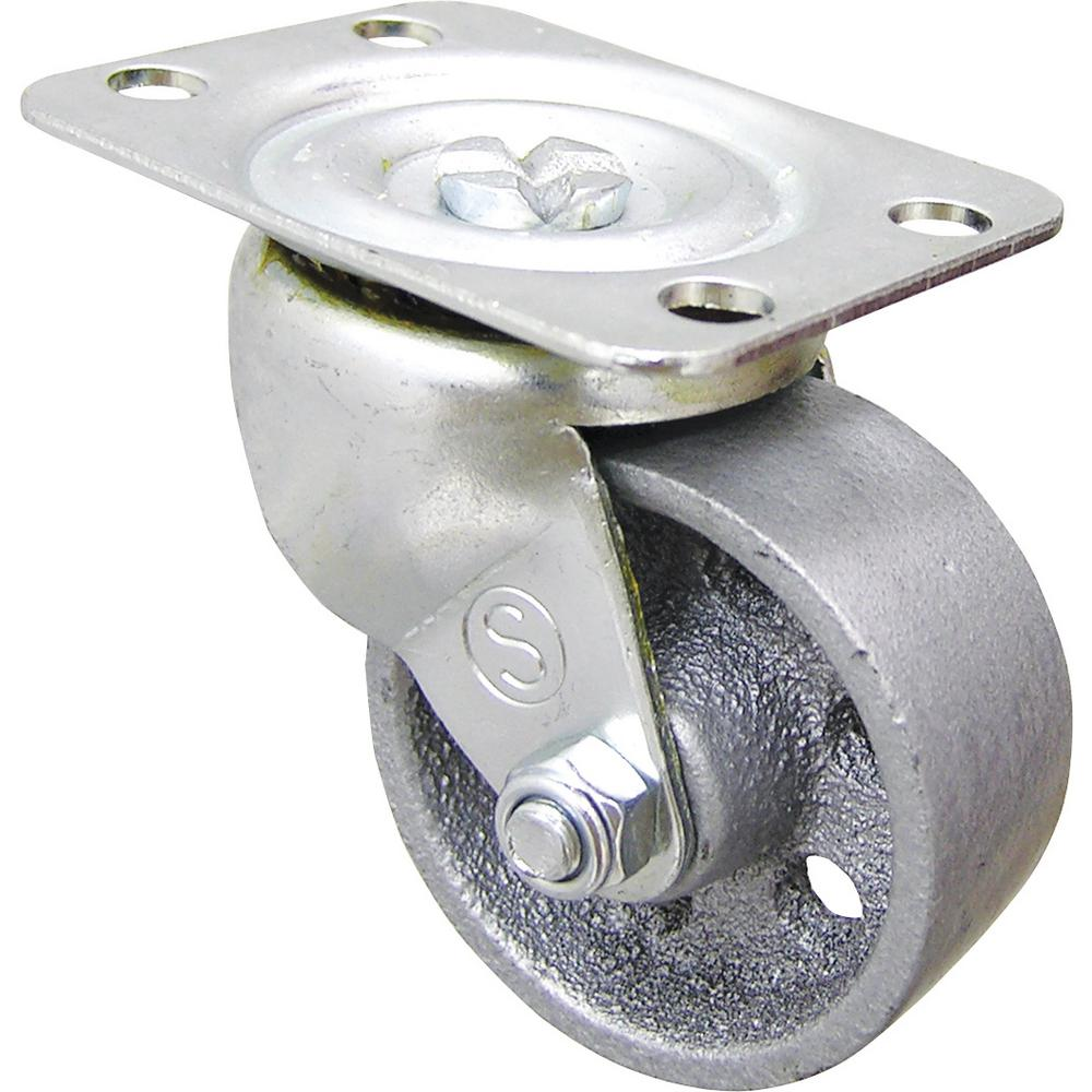 Shepherd 2 in. Cast Iron Swivel Plate Caster with 125 lb. Load Rating