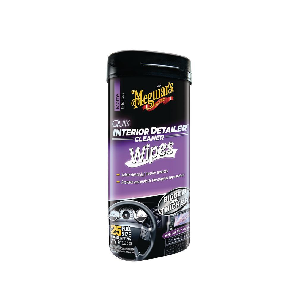 Quik Interior Detailer Wipes (25-Pack)