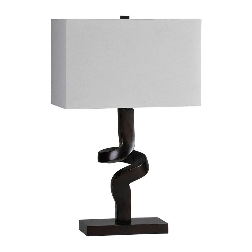 Illumine Luna 27 in. Black Incandescent Table Lamp