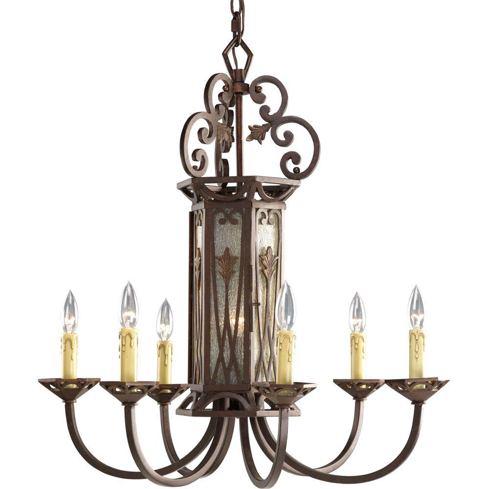 Thomasville Lighting Drayton Hall Collection Aged Mahogany 6+1-light Chandelier-DISCONTINUED