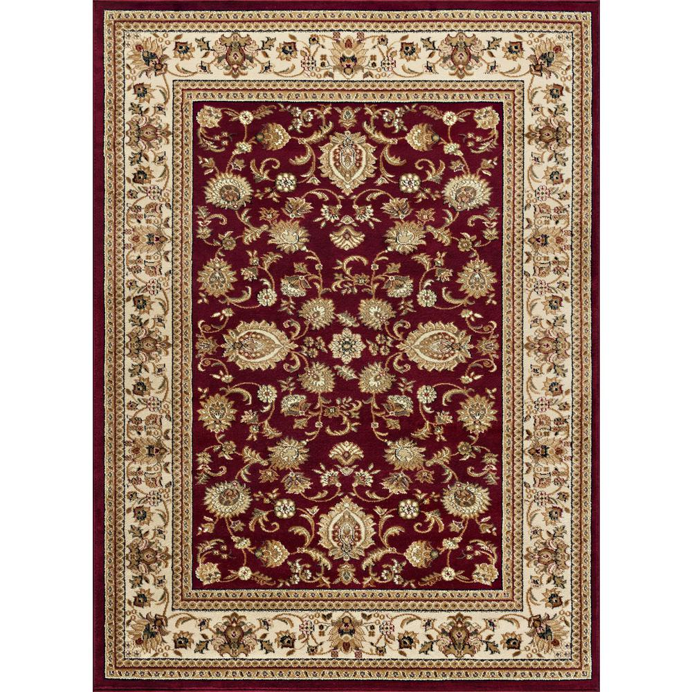tayse rugs sensation red 9 ft x 12 ft traditional area rug 4720 red 9x12 the home depot. Black Bedroom Furniture Sets. Home Design Ideas