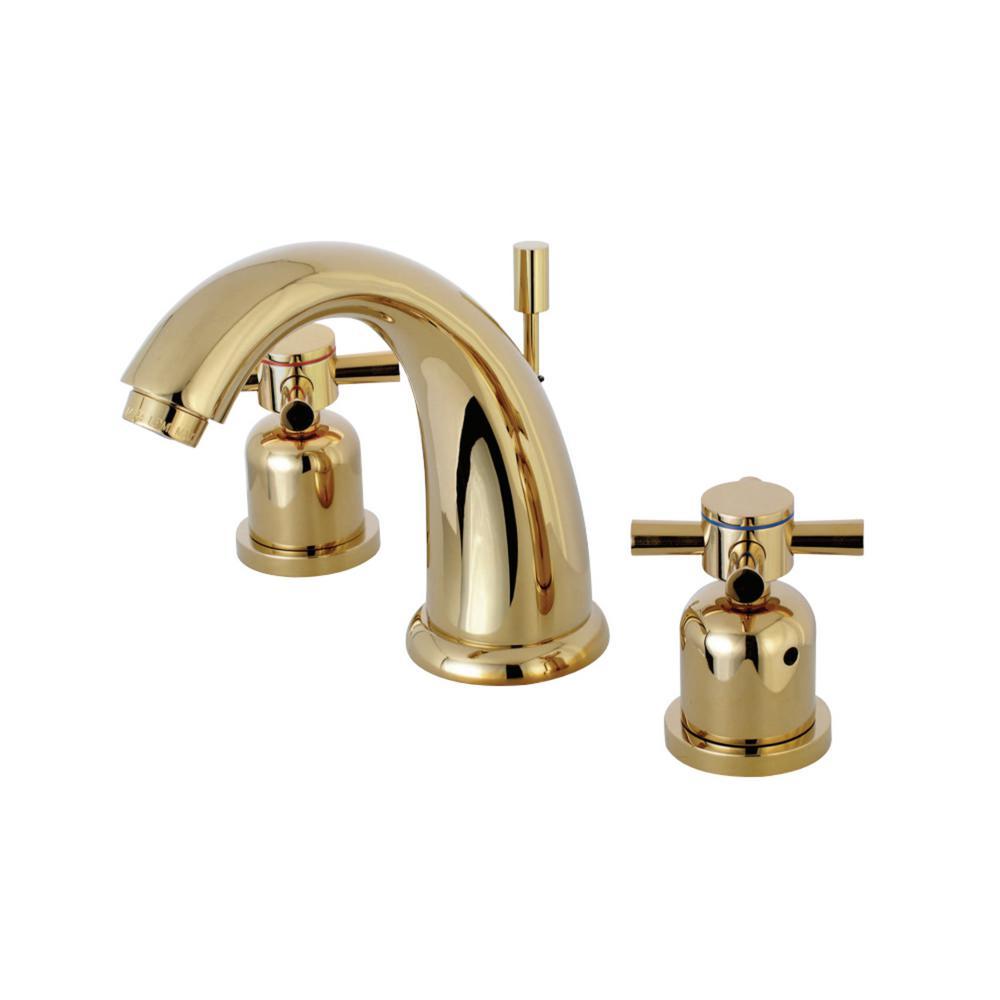 Kingston brass modern cross 8 in widespread 2 handle - Brass bathroom faucets widespread ...