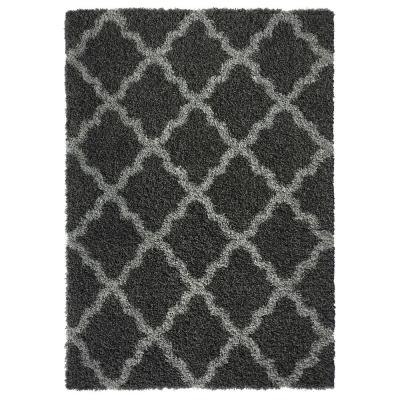 Bella Collection Charcoal Grey 7 ft. x 9 ft. Area Rug