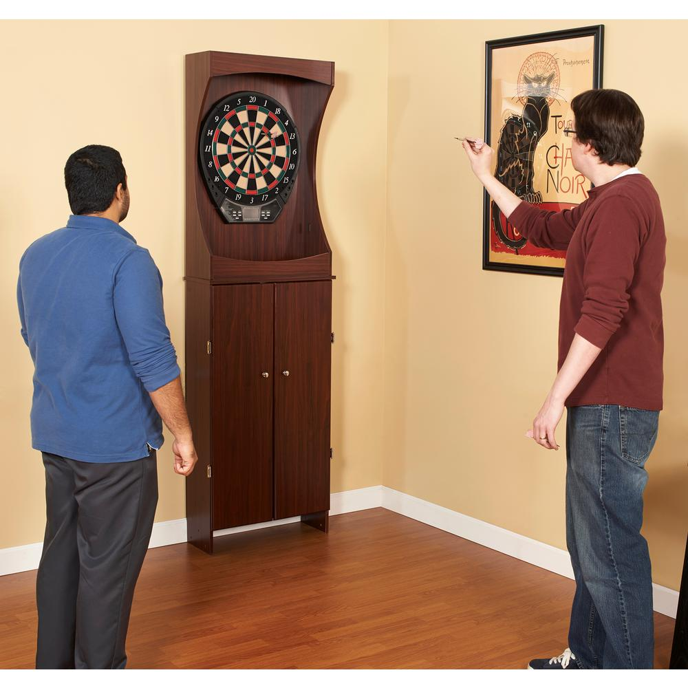 Hathaway Outlaw Free Standing Dartboard and Cabinet Set - Cherry ...