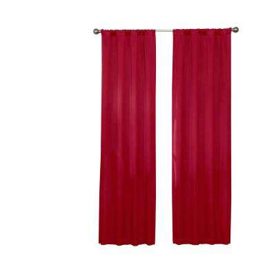 Darrell Blackout Window Curtain Panel in Chili - 37 in. W x 95 in. L