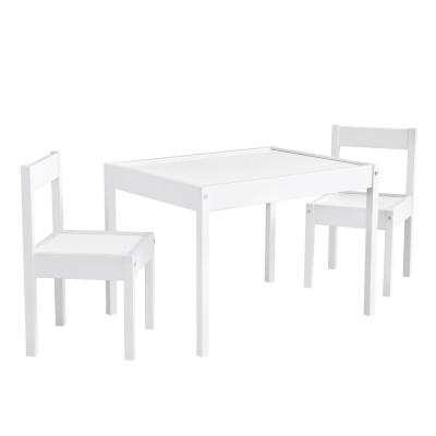 Wylie 3-Piece White Kiddy Table Chair Set