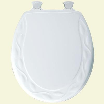 Stupendous Bemis Slow Close Round Closed Front Toilet Seat In White Pabps2019 Chair Design Images Pabps2019Com