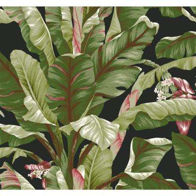 Tropics Banana Leaf Paper Strippable Roll Wallpaper (Covers 60.75 sq. ft.)