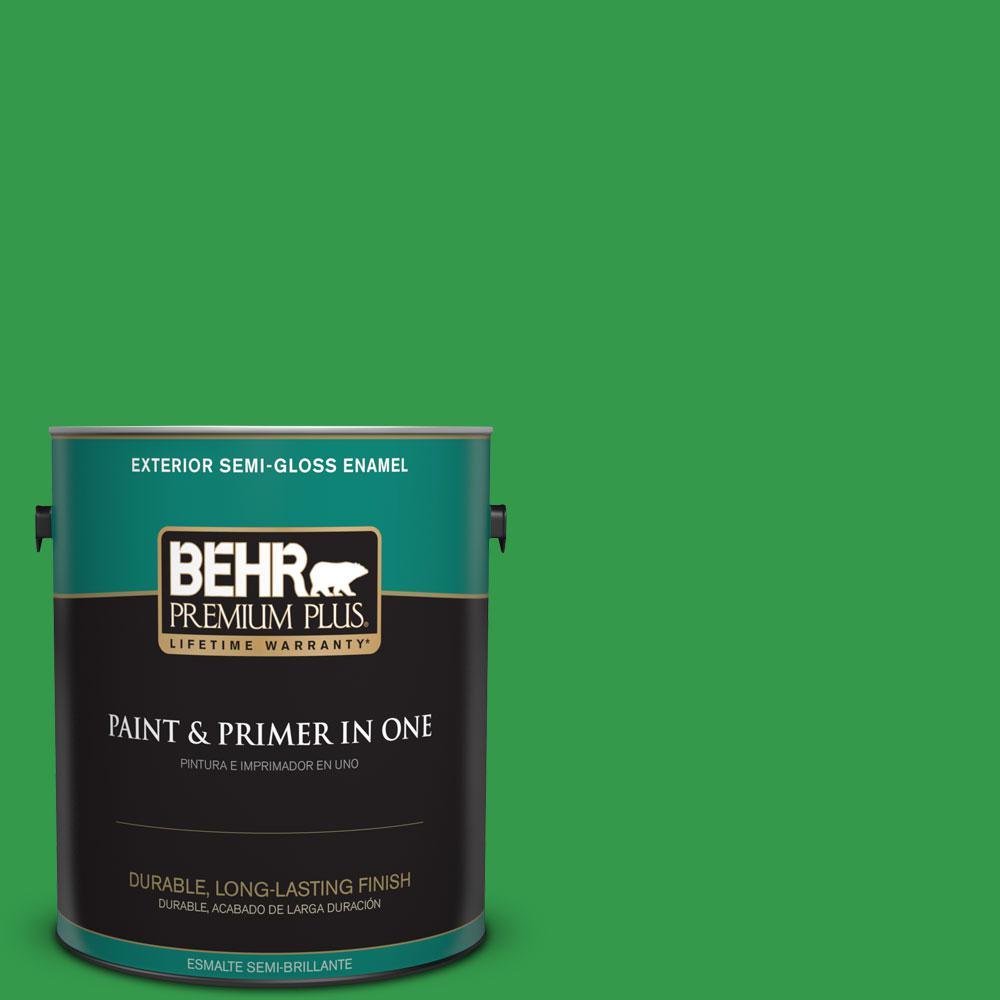 1-gal. #450B-6 Formal Garden Semi-Gloss Enamel Exterior Paint