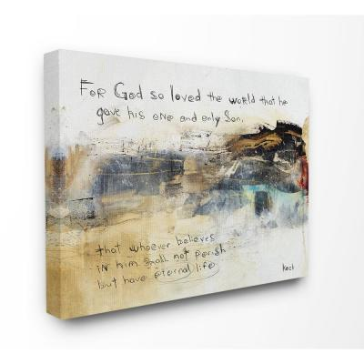 "24 in. x 30 in. ""Multicolor Abstract Painting Over Religious Sentiment Collage"" by Michel Keck Canvas Wall Art"