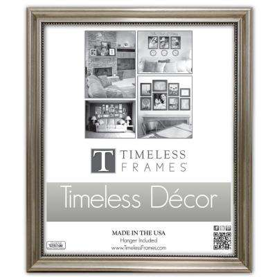 Astor 1-Opening 11 in. x 14 in. Silver Picture Frame