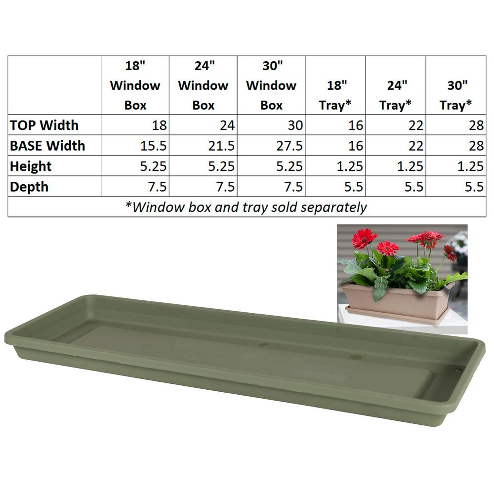 Bloem Living Dcbt18 46 Dura Cotta Plant Window Box 18 Inch Terra