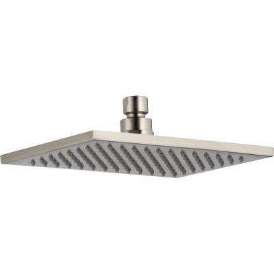 Vero 1-Spray 2.5 GPM 8-5/8 in. Raincan Shower Head in Stainless