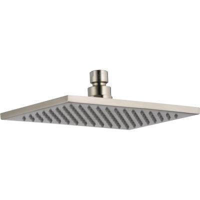 Vero 1-Spray 8.6 in. Single Wall Mount Fixed Rain Shower Head in Stainless