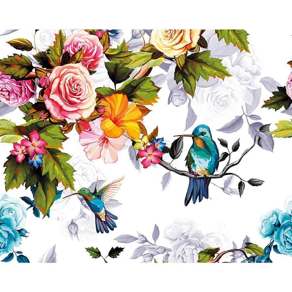 Hummingbird Garden Wall Mural