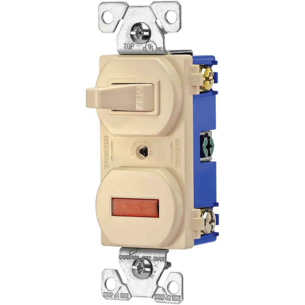 ivory eaton switches 277v box 64_1000 eaton heavy duty grade 15 amp combination single pole toggle  at highcare.asia