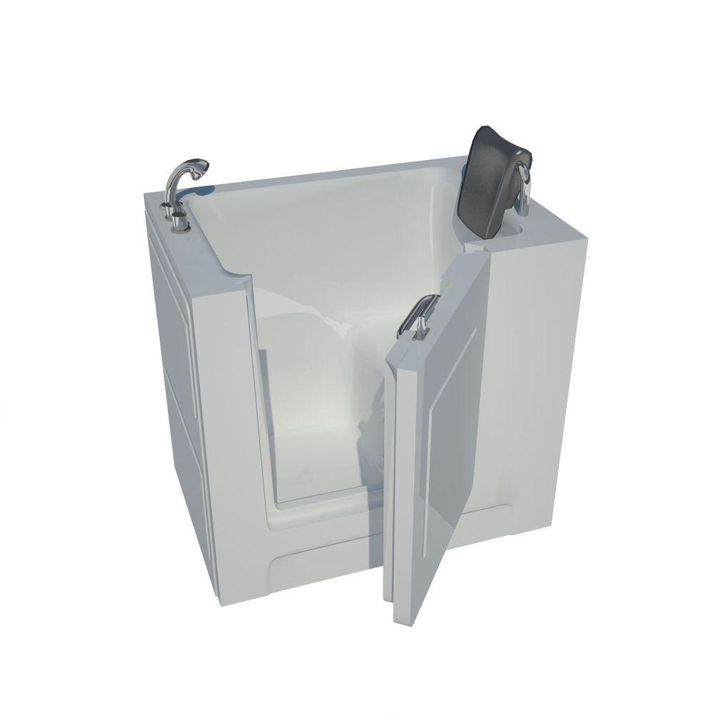 3.3 ft. Left Drain Walk-In Bathtub in White