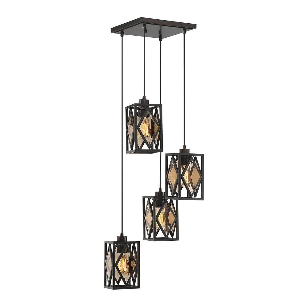 Filament design 4 light english bronze chandelier with bronze smoked filament design 4 light english bronze chandelier with bronze smoked beveled arubaitofo Image collections