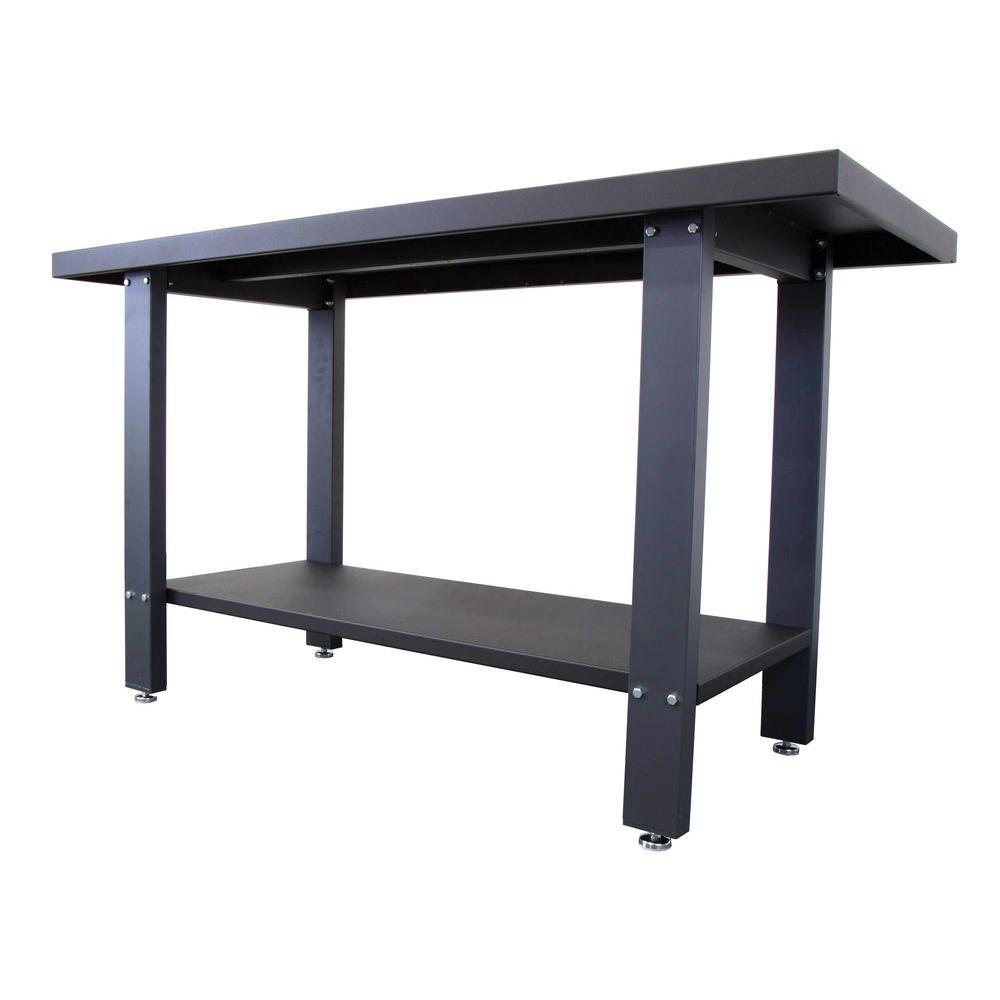 79 in. Industrial Strength Steel Work Bench