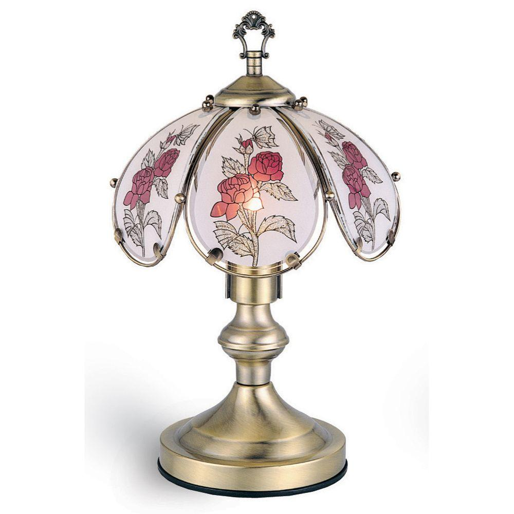 Ore international 1425 in rose antique brass touch lamp k317 the rose antique brass touch lamp aloadofball Images