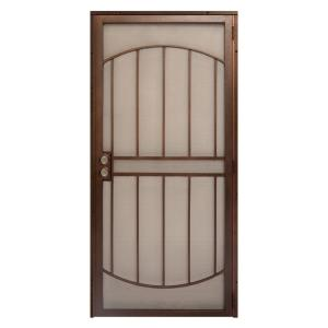 Unique Home Designs 36 In. X 80 In. Arcada Copper Surface Mount Outswing  Steel Security Door With Expanded Metal Screen IDR06400362063   The Home  Depot