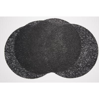 Mesh Black 100% Eco Friendly Vinyl Placemat (Set of 4)