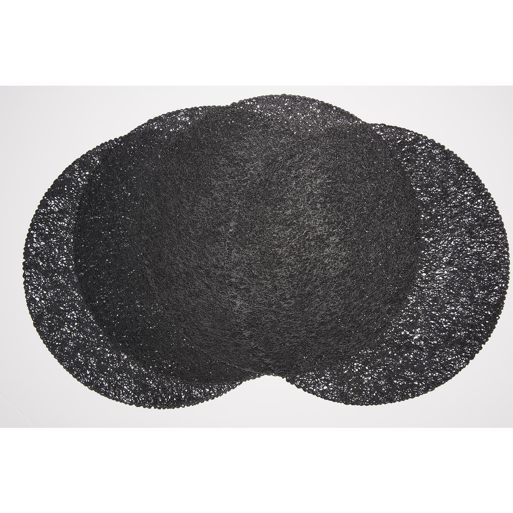 Mesh Black 100% Eco Friendly Vinyl Placemat (Set of 4)