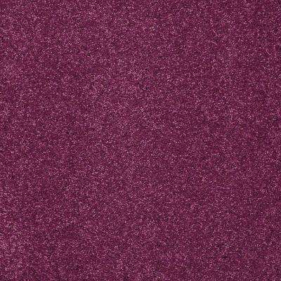 Carpet Sample - Joyful Whimsey - In Color Plum Silly 8 in. x 8 in.