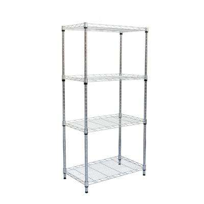 47.12 in. H x 23.25 in. W x 13.31 in. D 4-Shelf Metal Heavy Duty Shelving Unit