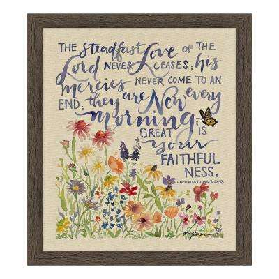"GraceLaced ""Steadfast Love"" by GraceLaced for Carpentree Printed Framed Natural Canvas Wall Art"