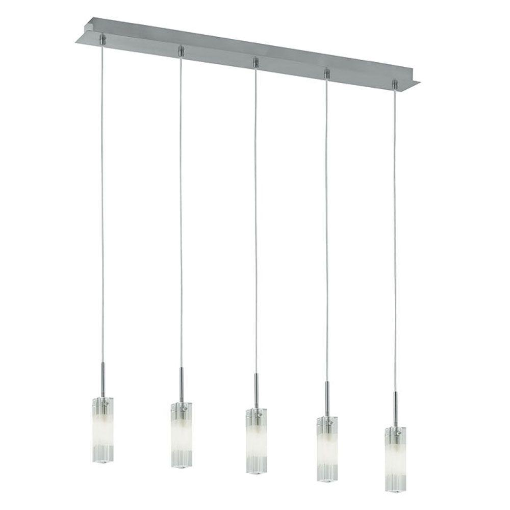 Eglo Alessa 5-Light Matte Nickel Linear Chandelier
