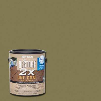 1 gal. 2X Sage Solid Deck Stain with NeverWet