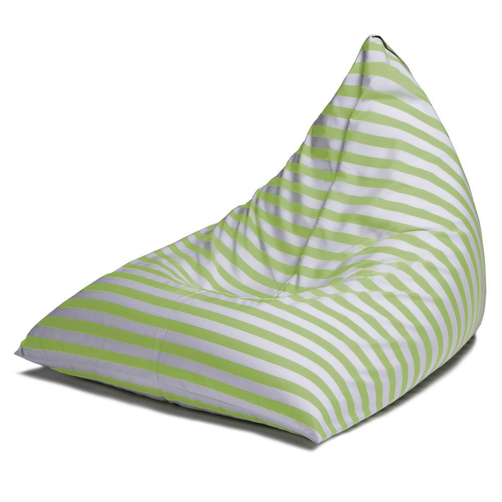 Twist Lime Stripes Outdoor Bean Bag Chair