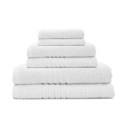 Softee 6-Piece 100% Cotton Terry Bath Towel Set in White