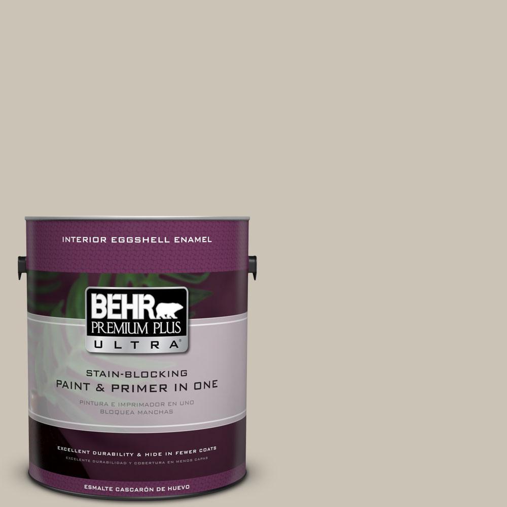 BEHR Premium Plus Ultra 1-Gal. #PPU5-8 Sculptor Clay Eggshell Enamel Interior Paint
