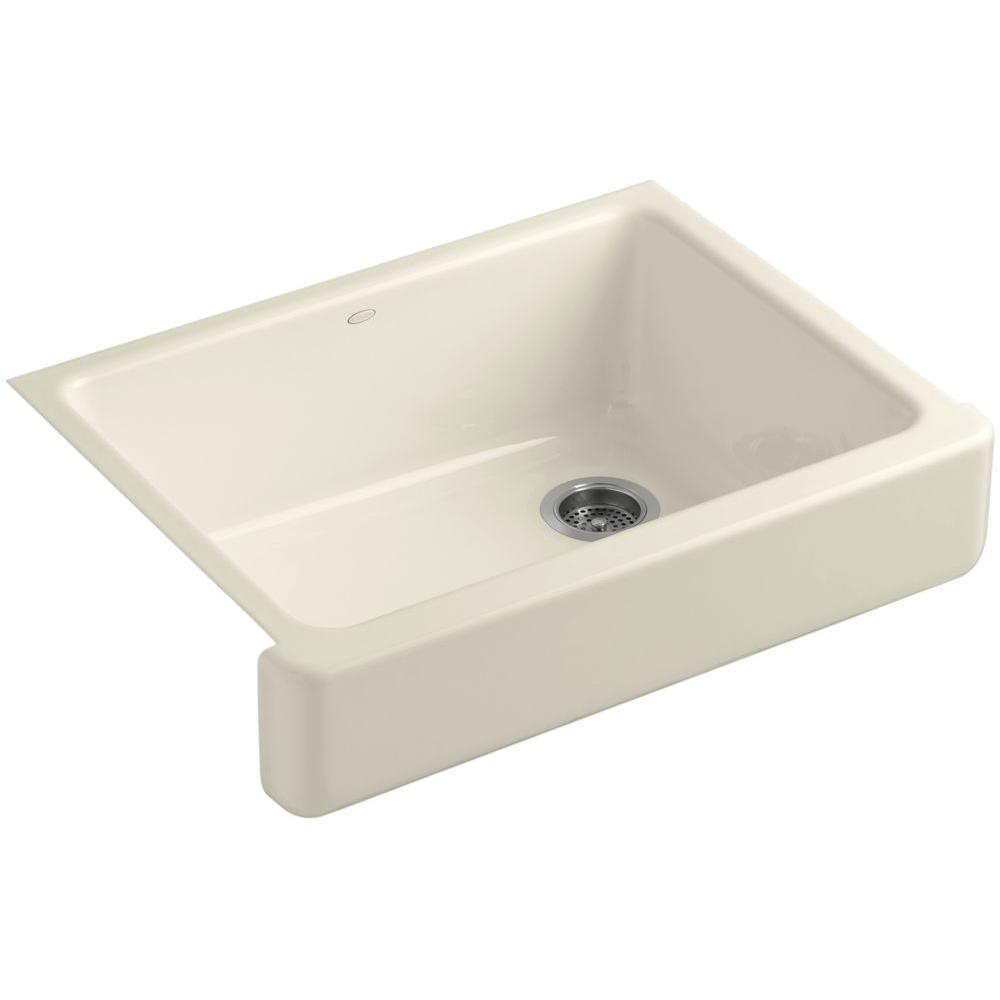 Kohler Whitehaven Farmhouse A Front Cast Iron 30 In Single Basin Kitchen Sink