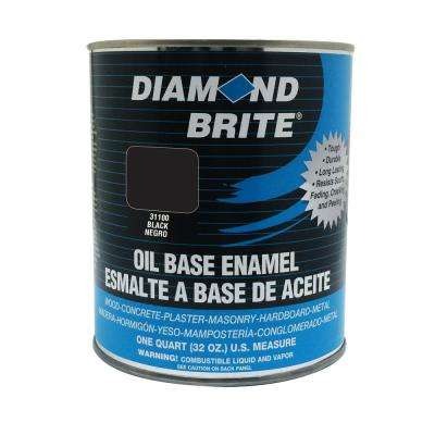 1 qt. Black Oil Base Enamel Interior/Exterior Paint