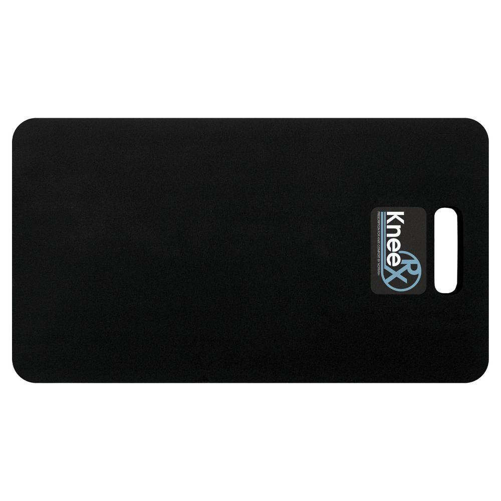 NoTrax Knee Rx HD Black 12 in. x 22 in. Nitrile Rubber/PVC Sponge Blend 1 in. Thick Anti-Fatigue Kneeling Pad