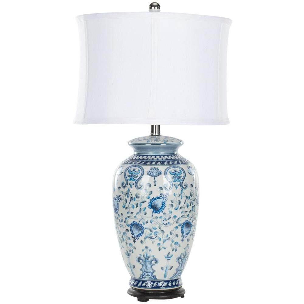 Safavieh Paige 29 In Blue And White Table Lamp Lit4023a The Home