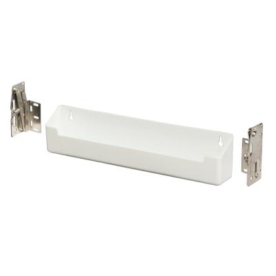 11 in. W White Steel In-Cabinet Sink Front Tray and Hinge Kit