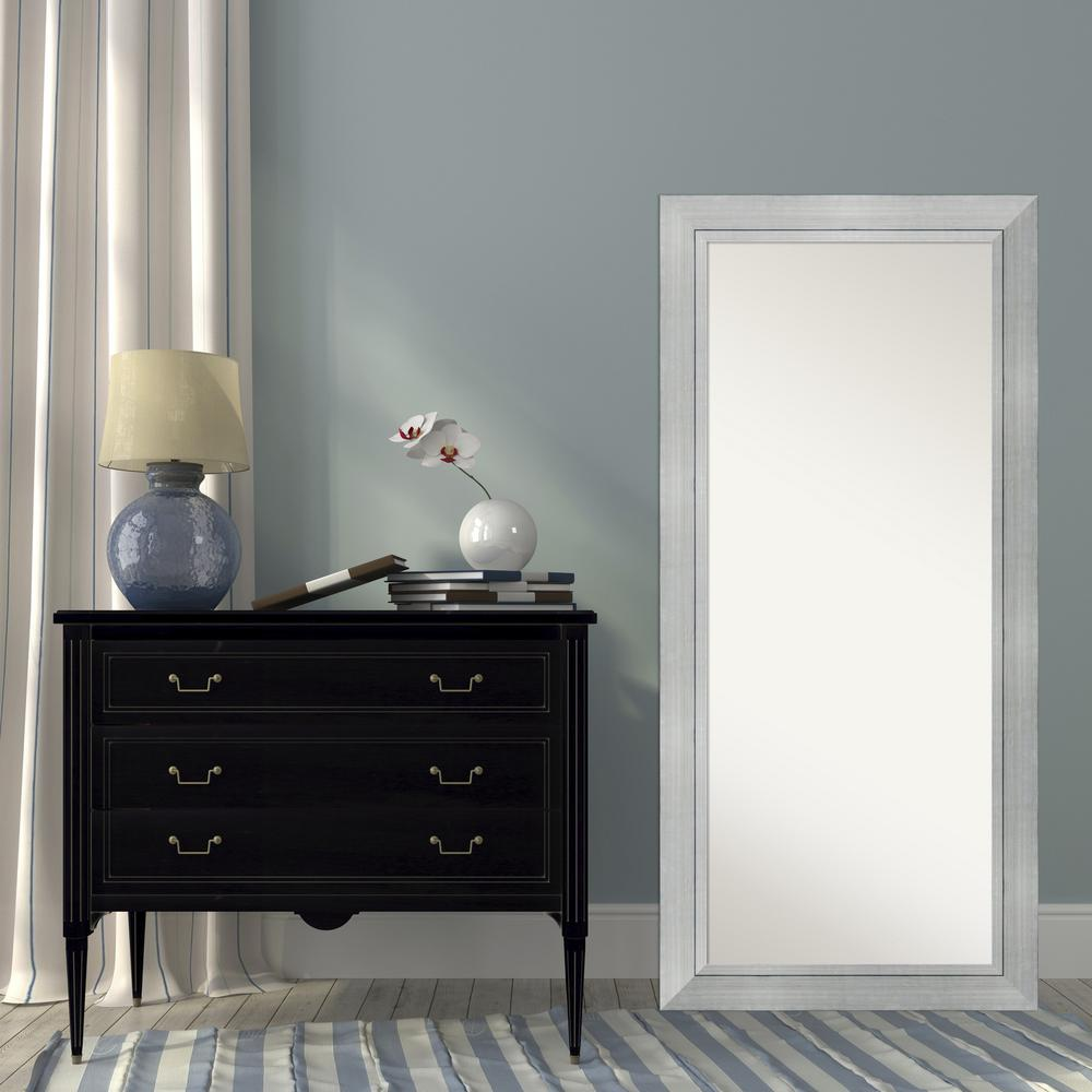 Amanti Art Alexandria White wash Wood 29 in. W x 65 in. H Distressed ...