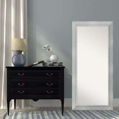 31 in. W x 67 in. H Romano Silver Wood Contemporary Floor/Leaner Mirror